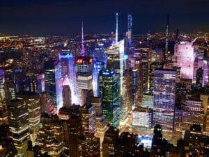 ニューヨークの夜景を満喫、日本語ガイド付き 夜景三昧ツアー