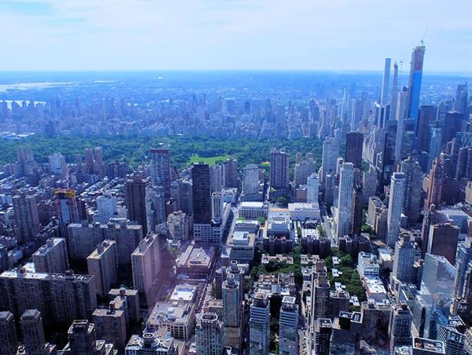 ニューヨーク ヘリコプター ツアー - セントラルパークの景色