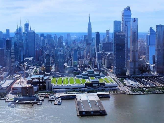ニューヨーク ヘリコプター ツアー - ハドソンリバー上空