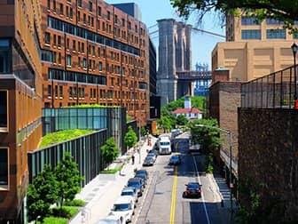 ブルックリンブリッジ - スクイブブリッジからの眺め