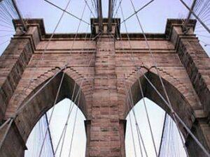ニューヨークのブルックリンブリッジ