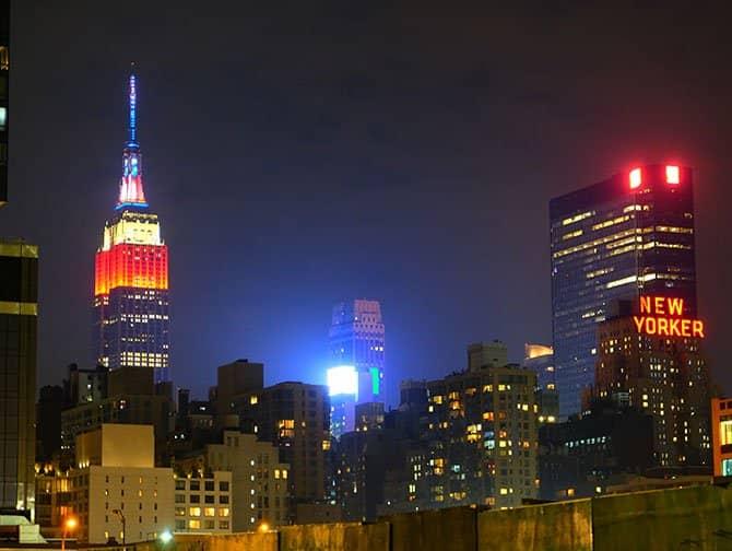 ニューヨーク 独立記念日 - エンパイアステートビル