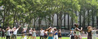 ブライアントパークでのダンス