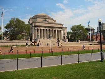 ニューヨークのアッパーウェストサイド コロンビア大学