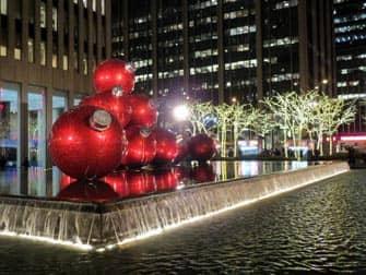 ニューヨークのクリスマスデコレーション