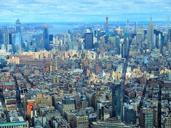 ニューヨーク サイトシーイング デイパス - ワンワールド展望台からの眺め