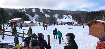 ニューヨーク近郊でのスキー旅行