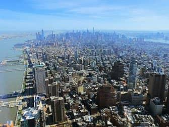 ニューヨーク サイトシーイング フレックスパスとエクスプローラパスの違い - ワンワールド展望台からの景色